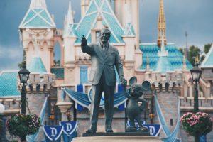 Walt Disney statue in Disneyland